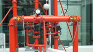 Stock Video Footage of fire system building piping