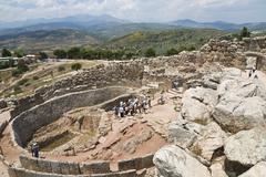 King\'s graves ruins, acropolis, mycenae archaeological site, peloponnese, gr Stock Photos