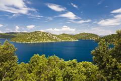 Archipelago in the mljet national park, mljet island, dubrovnik-neretva, dalm Stock Photos