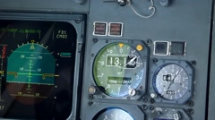 Commercial aircraft altimeter showing altitude increase Stock Footage