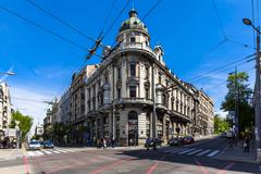 Serbia, Belgrad, Novi Beograd, Savski Venac, Chamber of commerce Stock Photos