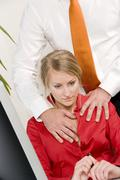sexual harassment at the workplace, work, office - stock photo