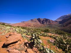 Stock Photo of Morocco, Marrakesh-Tensift-El Haouz, Atlas Mountains, Ourika Valley, Village