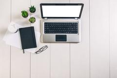 Still life with laptop - stock photo