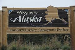 Alaskan sign Stock Photos