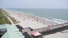 Beach to Pier pan. - stock footage