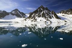 Stock Photo of fuglefjorden, spitsbergen, svalbard, norway, scandinavia, europe
