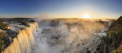 South America, Brazil, Parana, Iguazu National Park, Iguazu Falls - stock photo