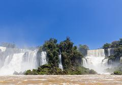 South America, Argentina, Parana, Iguazu National Park, Iguazu Falls Stock Photos