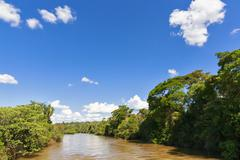 Stock Photo of South America, Argentina, Parana, Iguazu National Park, Iguazu River