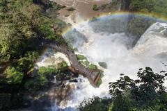 South America, Argentina, Parana, Iguazu National Park, Iguazu Falls, Rainbow - stock photo