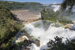 Stock Photo of South America, Argentina, Parana, Iguazu National Park, Iguazu Falls, Rainbow
