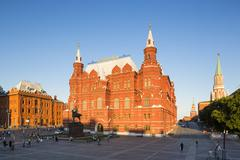 Russia, Central Russia, Moscow, Red Square, State Historical Museum, Statue of Stock Photos
