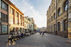 Stock Photo of Russia, Central Russia, Moscow, Arabat, Pedestrian area