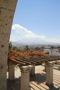 Stock Photo of South America, Peru, View from Arequipa to Volcano Misti