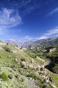 Stock Photo of South America, Peru, View to Colca Canyon