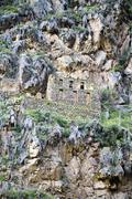 Stock Photo of South America, View of the ruins of Ollantaytambo near Cusco