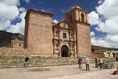 Stock Photo of South America, Peru, Puno, Church Santiago de Pupuja
