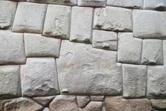 South America, Peru, Cusco, Stonewall of the Palace, Hatun Rumiyoq Stock Photos