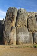 Stock Photo of South Amercia, View of the ruins of Saksaywaman in Cusco