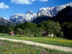 Stock Photo of kaisertal valley and mt. wilder kaiser, kufstein, tyrol, austria, europe