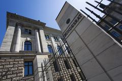 Stock Photo of facade of the bundesratsgebaeude, federal council building, detail, leipziger