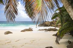 Stock Photo of Seychelles, Mahe Island, Anse Intendance, Beach