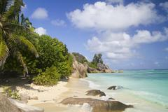 Seychelles, La Digue Island, Anse Source D'Argent, Beach - stock photo