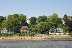 Stock Photo of Germany, Hamburg, Elbstrand, Beach at the Elbe river