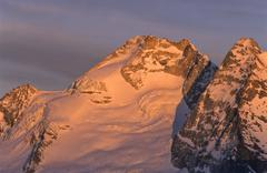summit of mt. olperer, glacier, tux alps, tyrol, austria, europe - stock photo