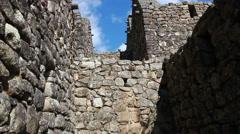 Tourist visiting Machu Picchu, Peru - UNESCO World Heritage Site  Stock Footage