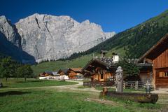Eng-alm alpine pasture, karwendel range, schwaz, tyrol, austria, europe Stock Photos