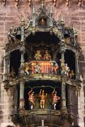 Glockenspiel at the new town hall, munich, bavaria, germany, europe Stock Photos