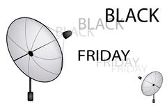 A Satellite Dish Sending A Black Friday Sign Stock Illustration