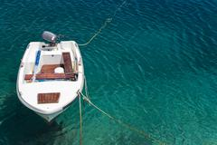 Small fishing boat, mljet island, dubrovnik-neretva, dalmatia, croatia, europ Stock Photos