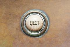 old button - eject - stock photo