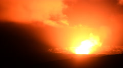 Stock Video Footage of 4K Astrophotography Time Lapse of Stars over Volcano in Hawaii -Pan Right-