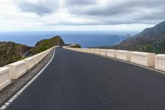 Spain, Canary Islands, Tenerife, Road to Taganana on the north coast Stock Photos