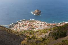 Spain, Canary Islands, Tenerife, View of Garachico on the north coast - stock photo
