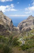 Spain, Canary Islands, Tenerife, Mountains on the north west coast Stock Photos