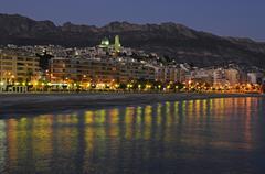 Stock Photo of altea at night, alicante, costa blanca, spain