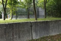 memorial to border installations of the former ddr, zimmerau/rieth, grabfeld, - stock photo