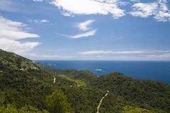 Stock Photo of coastal landscape of mljet island, dubrovnik-neretva county, dalmatia, croati
