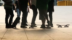 SKATERS FEET Stock Footage