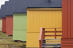 Stock Photo of houses in longyearbyen, spitsbergen, svalbard, norway