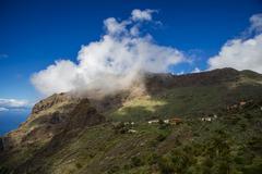 Stock Photo of Spain, Canary Islands, Tenerife, Teno Mountains, Barranco de Masca, Village