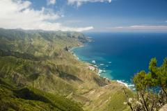 Spain, Canary islands, Tenerife, Cabezo del Tejo, View from Anaga mountains - stock photo