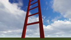 Ladders showing the pathway to the top Stock Footage
