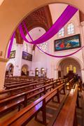 Sts. simeon and elena roman catholic church interior Stock Photos