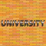 Stock Illustration of university sign